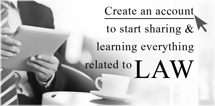 Create an account to start sharing and learning everything related to LAW.